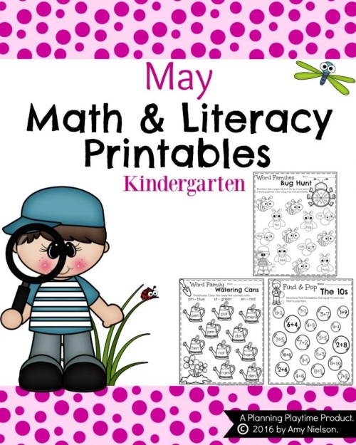 small resolution of Kindergarten Worksheets for May - Planning Playtime