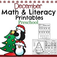 December Preschool Worksheets
