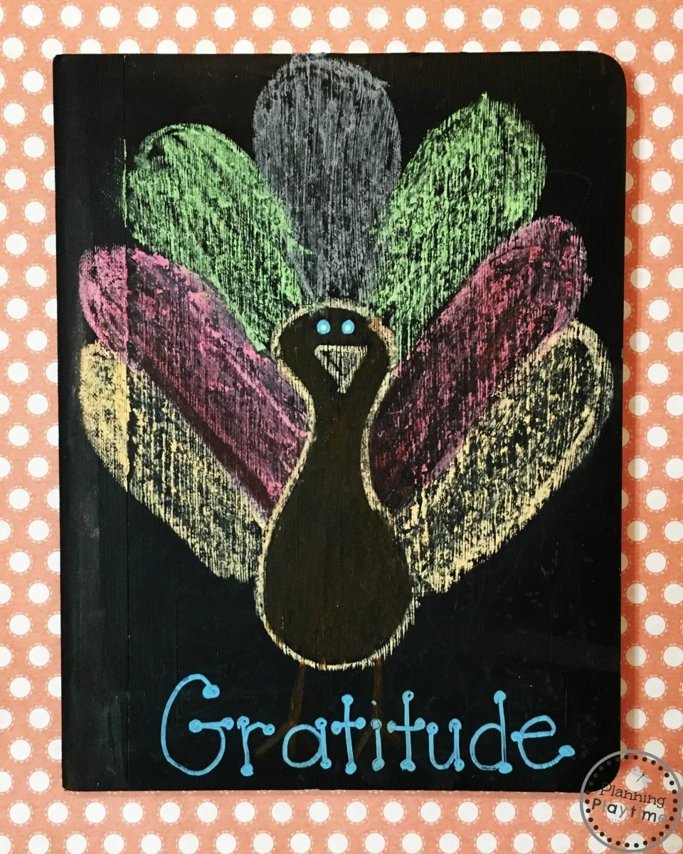 DIY Chalkboard Gratitude Journal or writing journal to redecorate all year round.