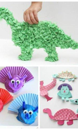 Cupcake Liner Dinosaur Crafts Planning Playtime