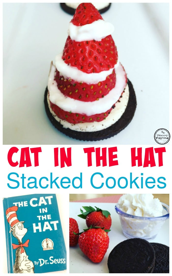 Cat in the Hat Cookies for Dr. Seuss Week