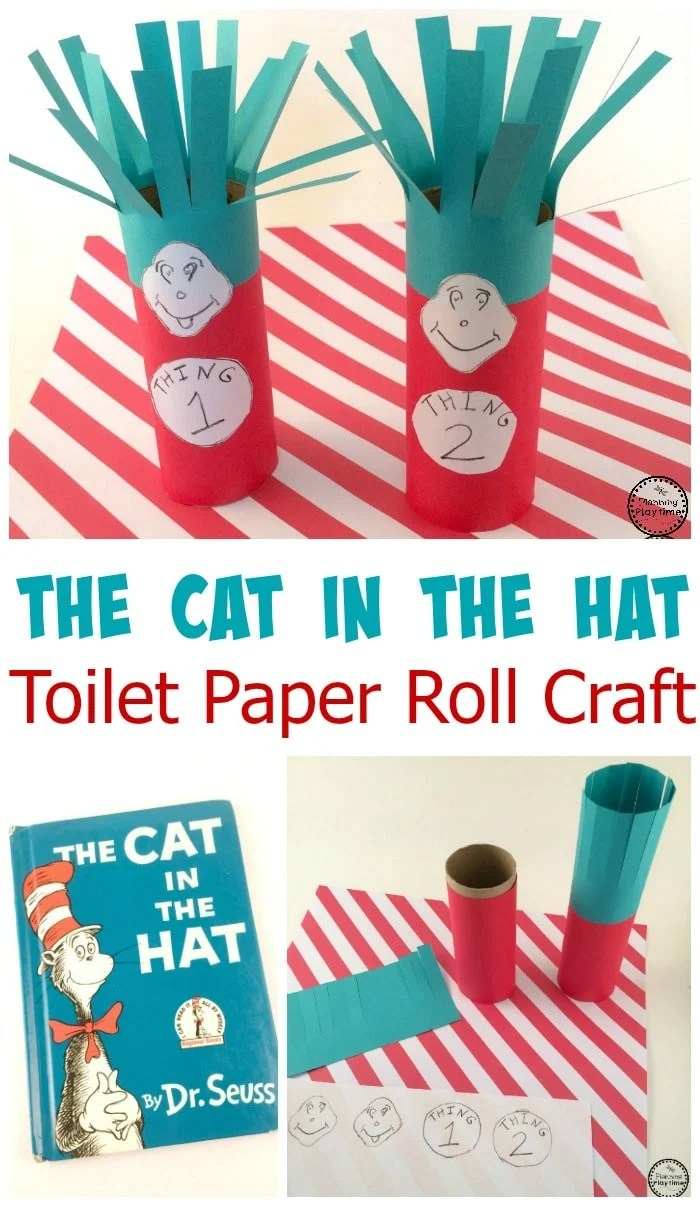 Cat in the Hat Toilet Paper Roll Craft