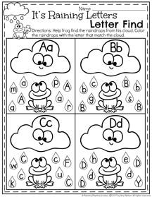 March Preschool Worksheets Planning