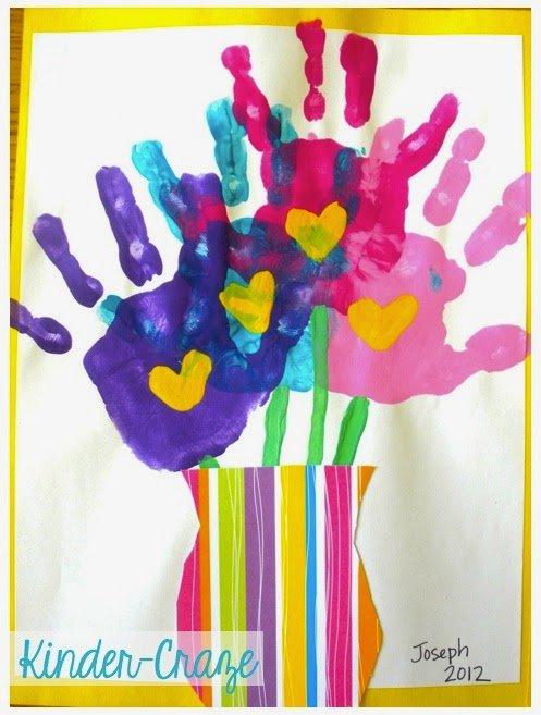 Handprint Bouquet Art - Mother's Day Craft for Kids