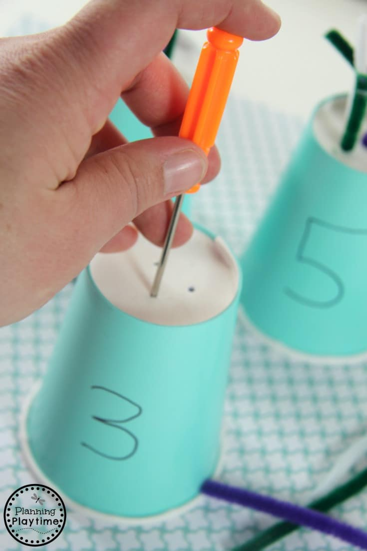 Pipe Cleaner Counting Activity for Preschool