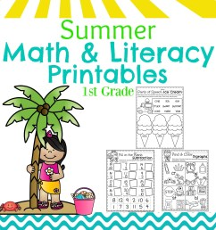First Grade Summer Worksheets - Planning Playtime [ 3000 x 2400 Pixel ]