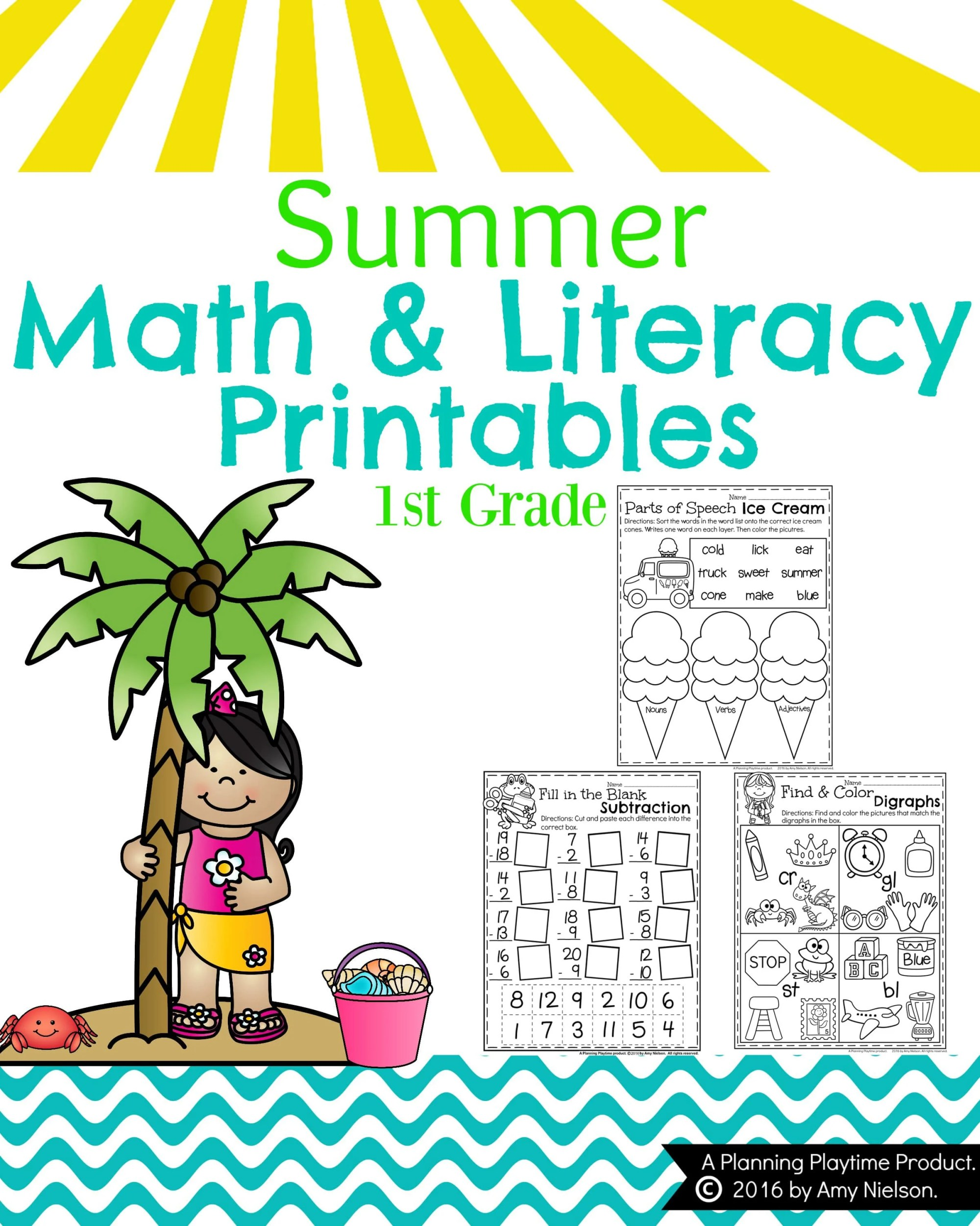 hight resolution of Summer First Grade Worksheets - Planning Playtime