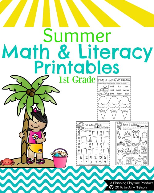 small resolution of Summer First Grade Worksheets - Planning Playtime