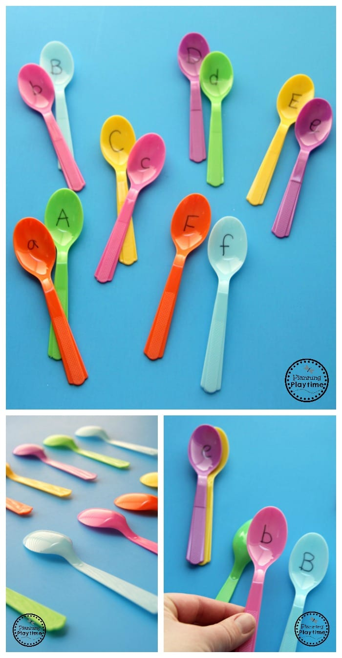 Letter Matching Activity Spoons