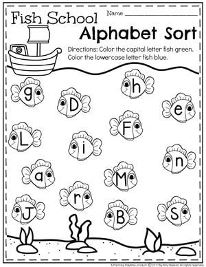 Summer Preschool Worksheets Planning