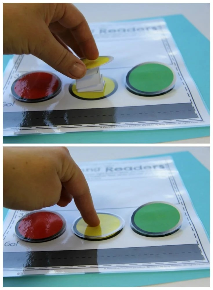 Button for Kindergarten Reading Practice Activity