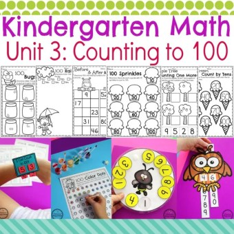 Kindergarten Counting to 100 Activities