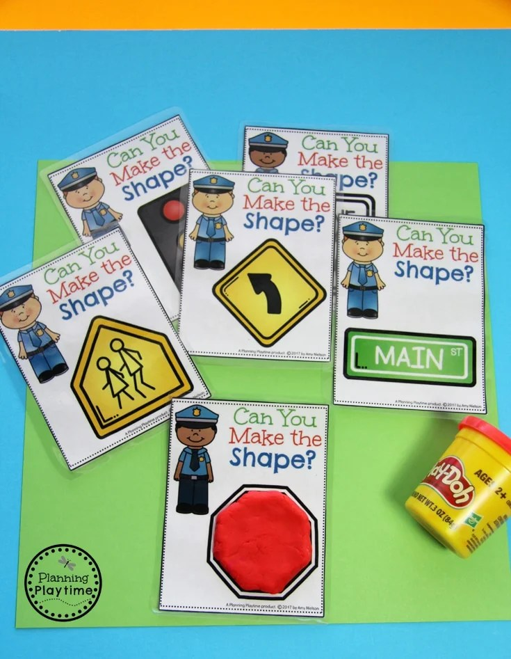 Community Helpers - Can you Make the Shape Road Signs.