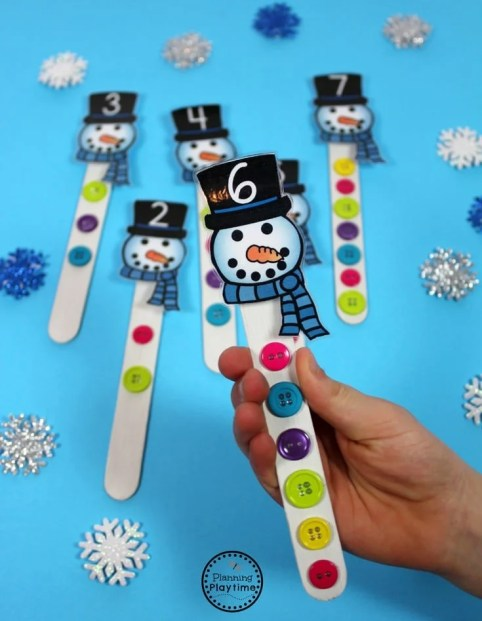 Cute Preschool Counting Activity for Winter