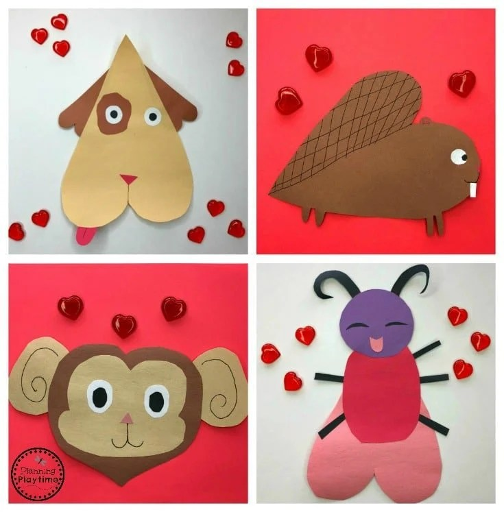 Animal Valentines Crafts for Preschool