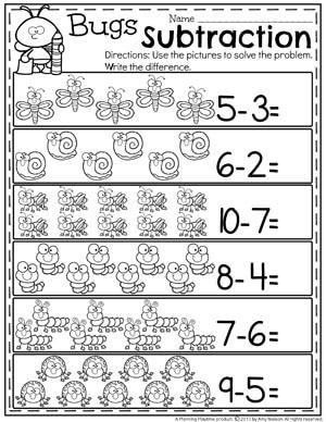 Free Subtraction Worksheets For Kindergarten