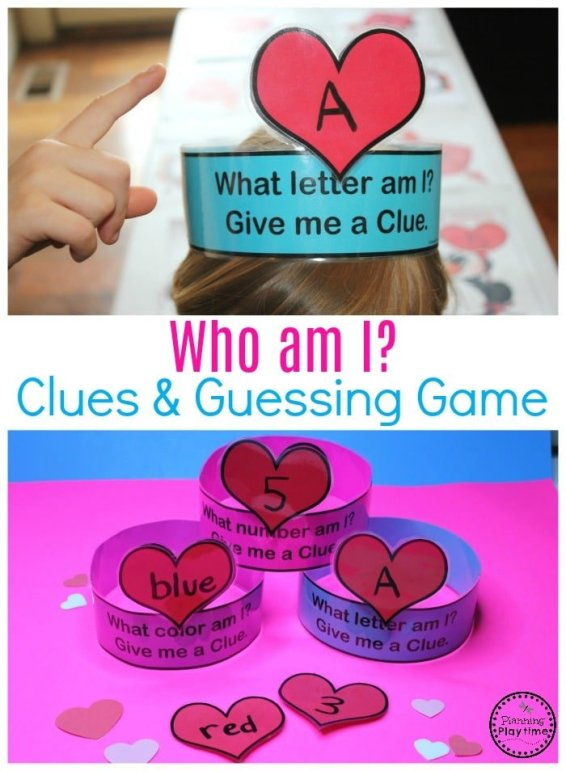 Preschool Valentine's Games - Help Me Guess Letters, Colors and Numbers