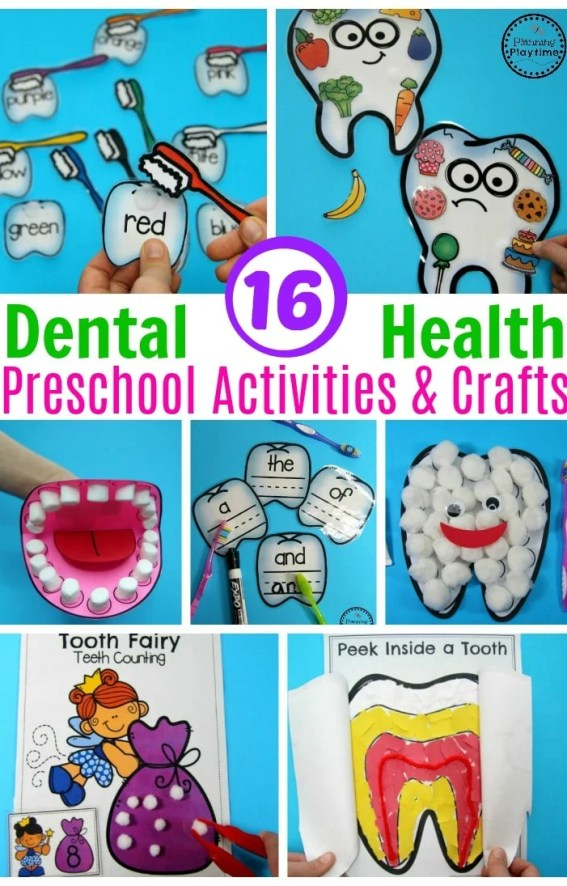 Awesome Preschool Dental Health Theme Activities. #dentalhealth #preschool #preschoolworksheets #preschoolcenters