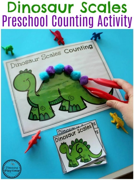 Dinosaur Scales Counting Activity for Preschool. So fun!