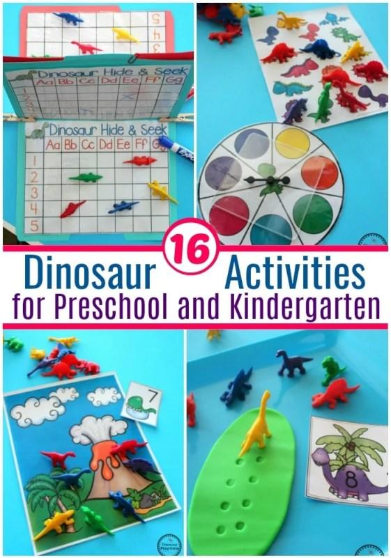 Fun Dinosaur Activities for Preschool and Kindergarten #preschool #dinosaurtheme #dinosaur #preschoolactivities
