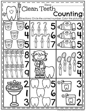 Teeth Worksheets For Preschool Roll A Number. Teeth. Best