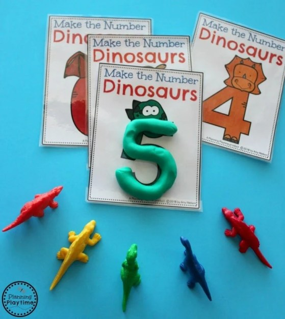 Preschool Dinosaur Theme activities - Counting and Numbers. #preschool #dinosaurtheme #dinosaur #preschoolactivities
