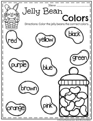 Jelly Bean Worksheet Coloring Pages