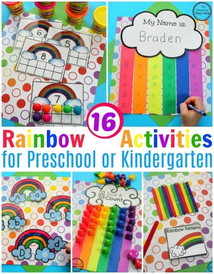 rainbow activities planning playtime