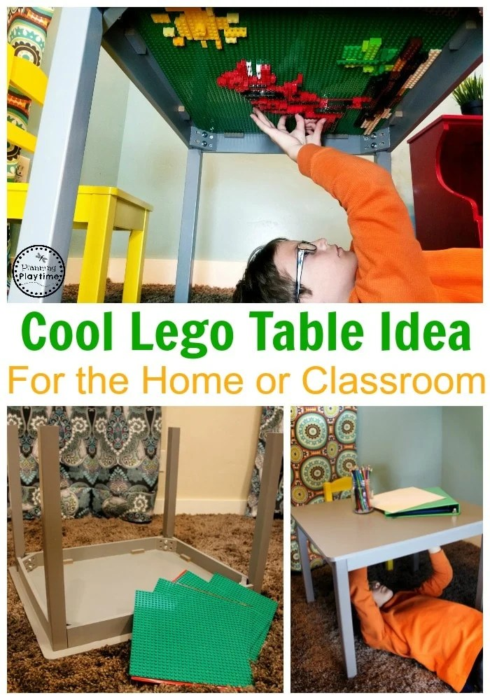 Awesome Lego Table ideas for the home or classroom #lego #legobaseplates #legomakeover #legoideas #legohacks #legoclassroom #legotable #ad