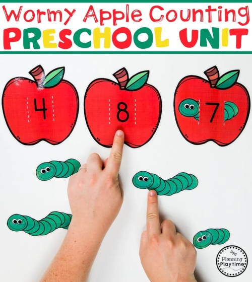small resolution of Preschool Apple Theme - Planning Playtime
