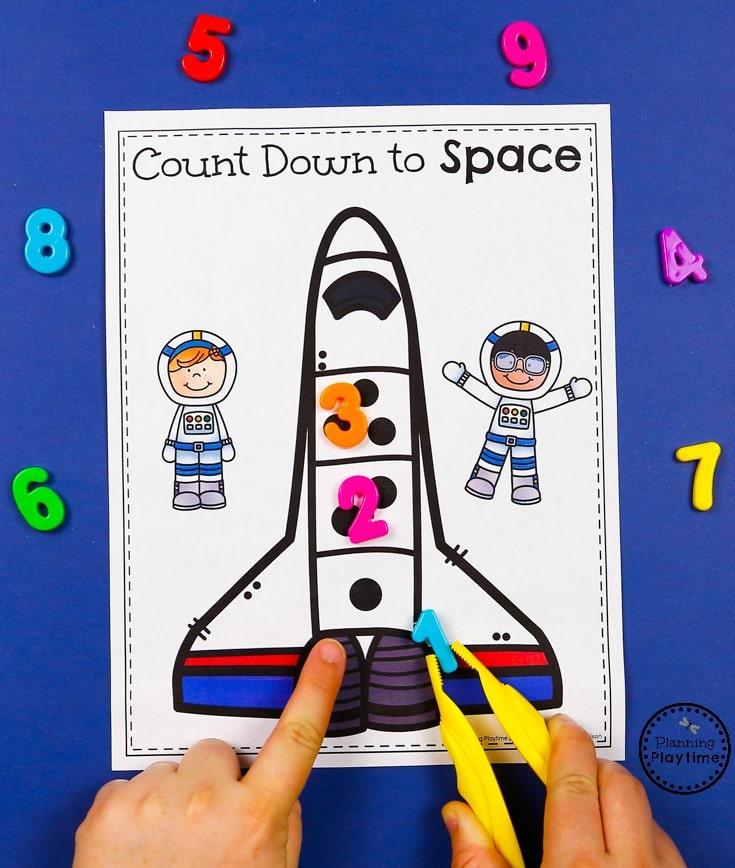Fun Rocket Dot Counting - Preschool Transportation Unit