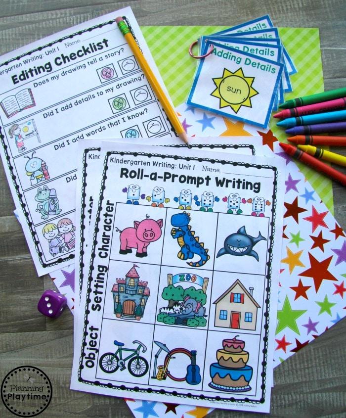 Kindergarten Math Centers - Writing Prompts and Worksheets for Kindergarten