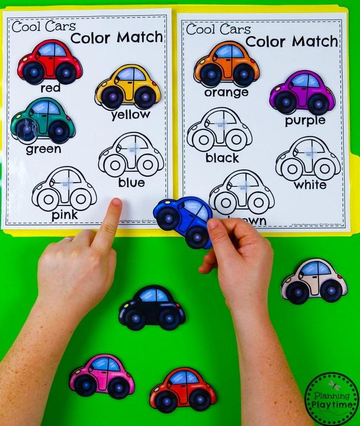 Preschool Color Matching - File Folder Game