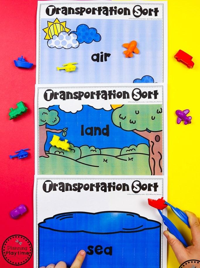 Transportation Worksheets  Planning Playtime