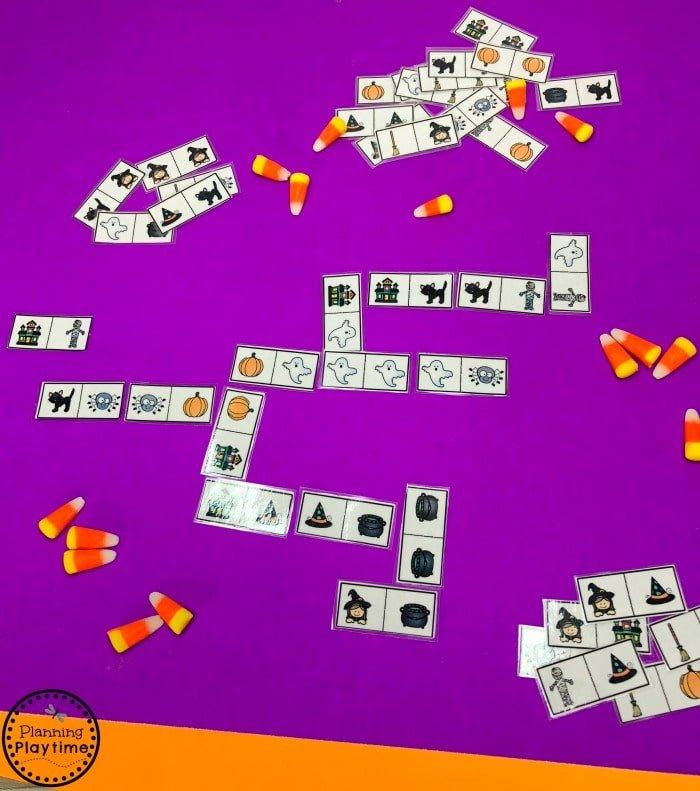 Halloween Dominoes - Preschool Patterns Game