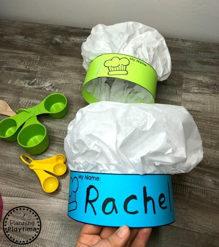 DIY Chef Hat for Kids - Preschool Bakery Play
