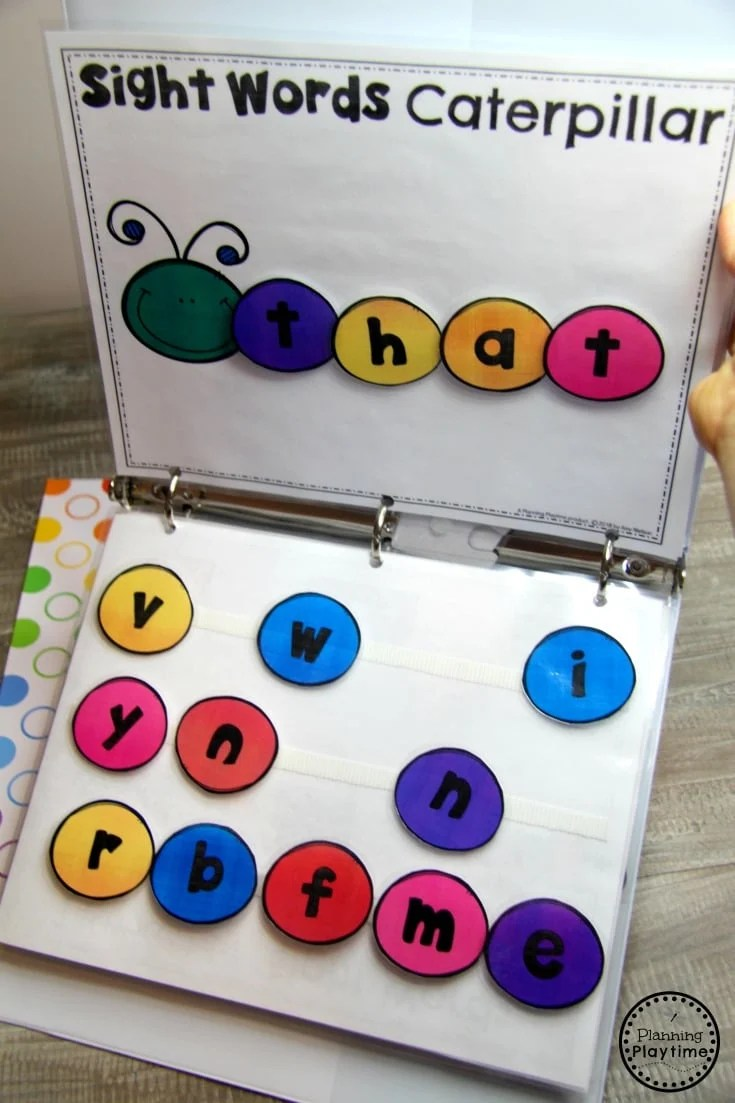 Fun Kindergarten Sight Words Activities #sightwords #kindergartenworksheets #sightwordsworksheets #kindergartencenters #planningplaytime