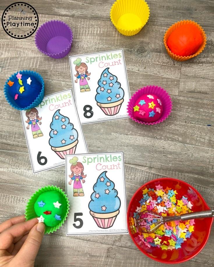 Preschool Counting Games - Cupcake Sprinkles Math