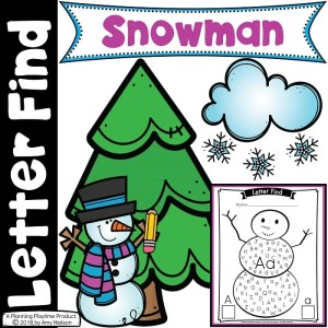 Preschool Letter Worksheets - Snowman Letter find #preschoolprintables #preschoolworksheets #letterworksheets #planningplaytime