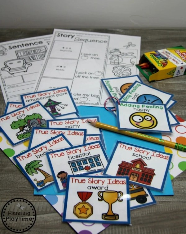 Kindergarten Writing Centers - Prompts and Worksheets