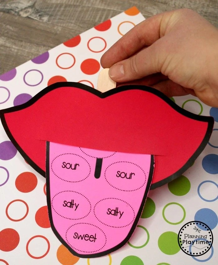 5 Senses Craft for Preschool - Sense of Taste #5senses #preschoolthemes #preschoolcenters #planningplaytime #preschoolcraft
