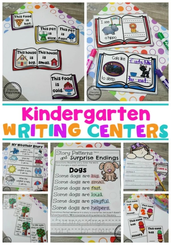Kindergarten Writing Centers - Story Patterns