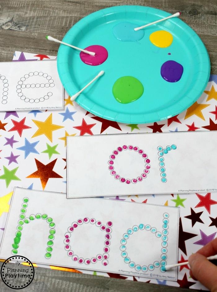 Sight Words for Kindergarten - Sight Words Dot Painting #planningplaytime #sightwords #kindergarten #kindergartenworksheets #literacycenters