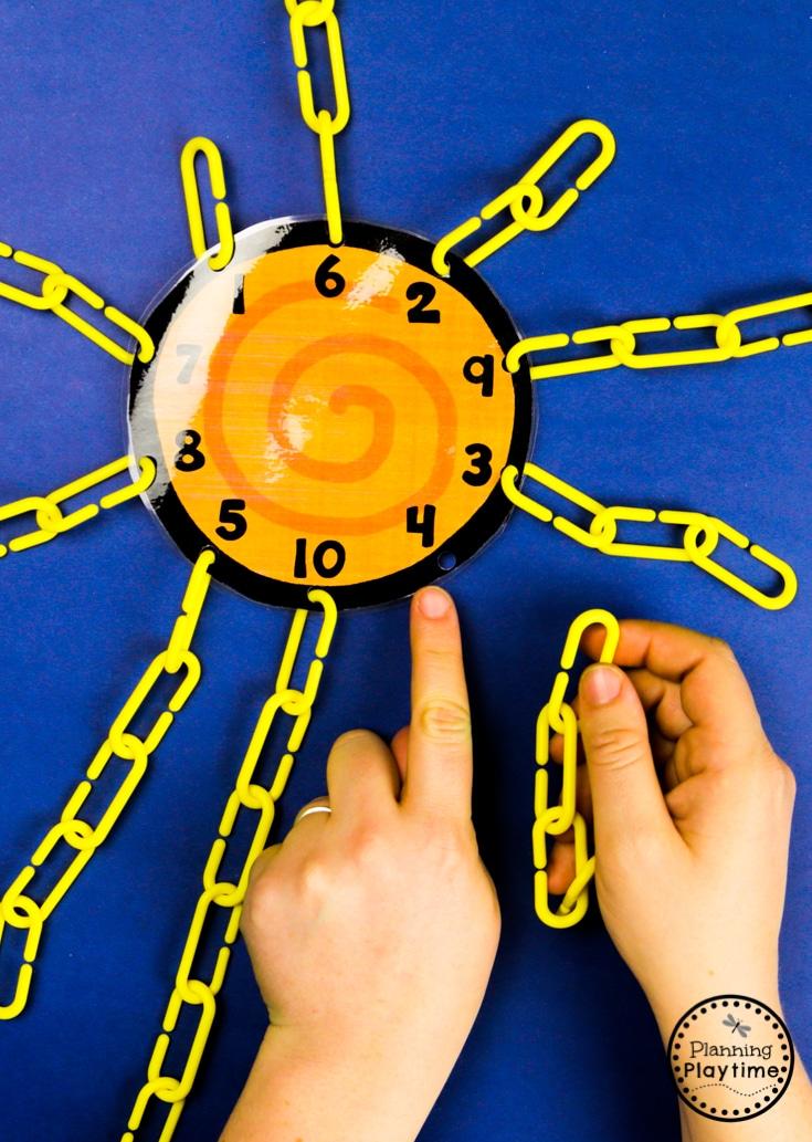 Weather Activities for Kids - Counting #planningplaytime #weathertheme #preschoolactivities #preschoolworksheets #springworksheets