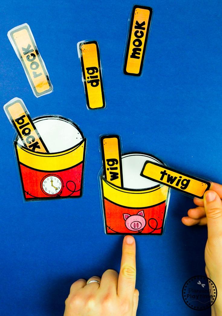 Rhyming Activities for Kids - Rhyming French Fries #planningplaytime #rhymingwords #kindergartenworksheets #rhymingworksheets #literacyworksheets