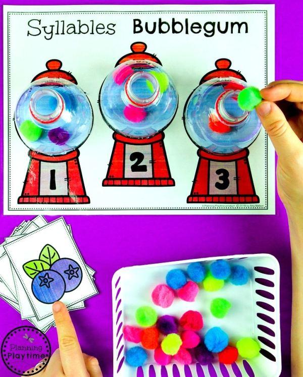 Syllables Activities for Kids - Kindergarten Centers