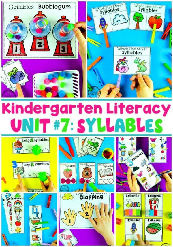 Syllables Worksheets and Games for Kids