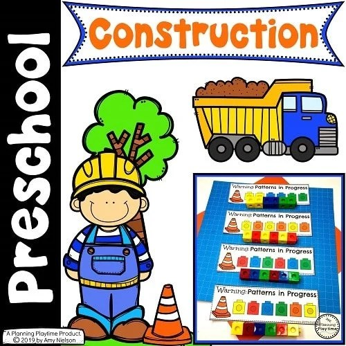 Preschool Construction Theme Set #constructiontheme #preschool #preschoolworksheets #planningplaytime