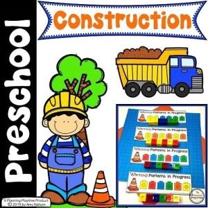 Preschool Construction Theme Set #constructiontheme #preschool #preschoolworksheets #planningplaytime