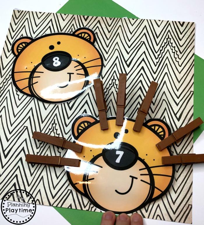 Preschool Counting Craft - Lions Mane #zootheme #preschool #preschoolworksheets #planningplaytime